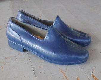 Retro Sermi French Blue Dairy Rubber Shoes EU 40