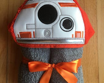BB8 Inspired Hooded Bath Towel