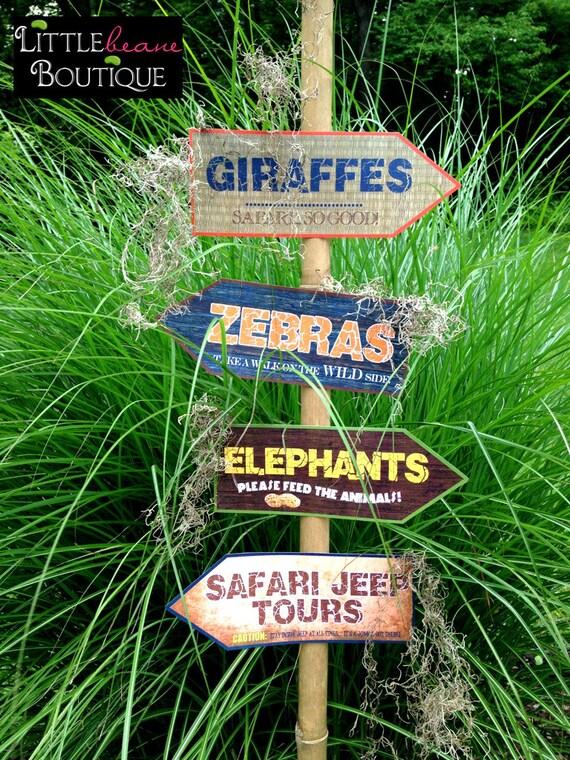 Printable Safari Jungle Signs DIY African Safari party