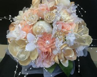 Seashell bridal bouquet