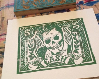 Mad Cash - Block Print