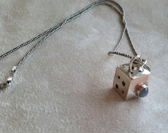 Cubed (Off-Kilter) Marriage of Metal Pendant