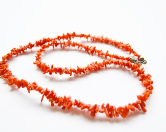 red coral necklace, woman gift, coral necklace