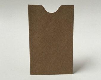 25 Kraft Mini Envelopes, Notched Edge, Gift Enclosure, Kraft Brown Bag Envelope, Samll Kraft Envelopes, Business Card Envelopes, e25