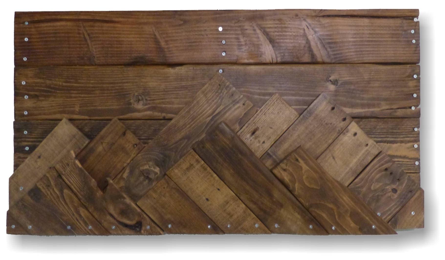 zoom Wooden Mountain Range Wall Art Wall
