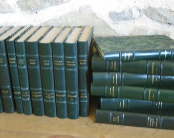 Charlotte Bronte, Shirley, 2 volumes of vintage French hardback books from the 1950s