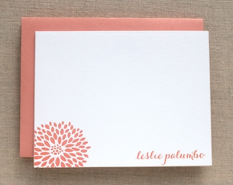 Custom Letterpress Card with Flower