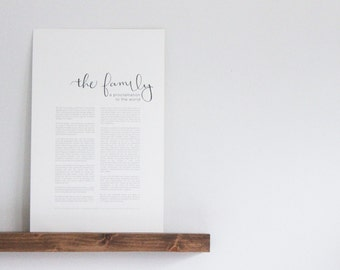 Family Proclamation  |  Hand-Lettered  |  LDS Print  |  Calligraphy