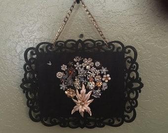 Vintage Jewelry Bouquet Wall Art