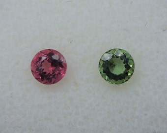 Mozambique tourmalines, green, pink, 4, 1 mm, 0, total 65ct.