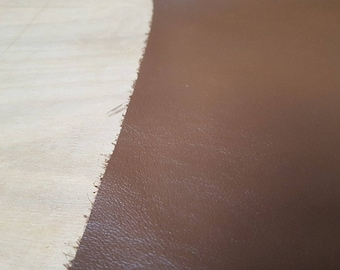 Brown Italian Leather Hide APX 1.7m2 1.8mm thick