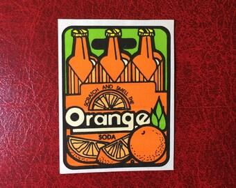 Vintage Mello Smello 80s Scratch and Sniff Orange Soda