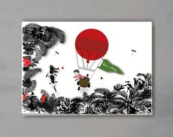 greeting card - bon voyage! (incl. envelope)