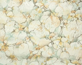 1930s Vintage Wallpaper by the Yard - Faux Finish of Brown Gold and Green Marble