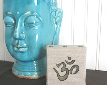 OHM Wall Art, Canvas Quote Art, Zen Wall Art, Meditation Decor, Zen Decor, Om Decor, Office Desk Accessories