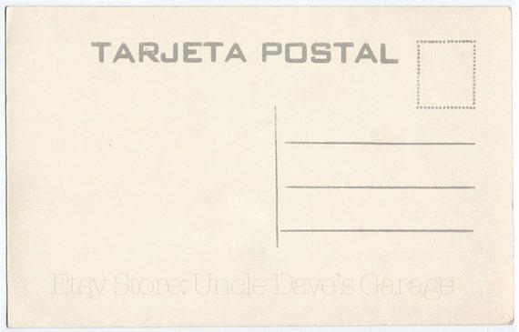 Digital Download Vintage Mexican Postcard Back Artwork 1930s 1940s Tarjeta Postal Blank For Printout Or From UncleDavesGarage On Etsy