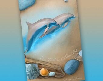 Sea Angels Bookmark - Bookmarker - Bookmarking - Bookmarks for Books - Book Mark - Reading Bookmark