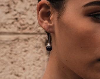 3.5 Carat Natural Purple Amethyst Gemstone 925 Sterling Silver Drop/Dangle Earrings 2-Day US Shipping FREE!