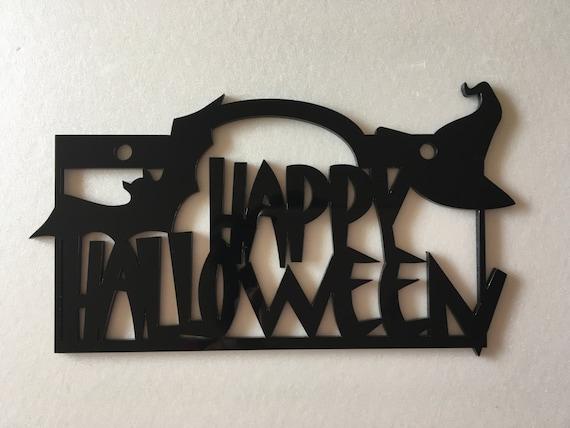 Halloween home decor Happy Halloween Door signs Halloween bats Halloween Decoration Halloween gift Halloween hat Door hanging Wall decor