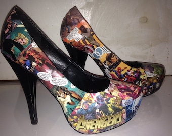 Custom made avengers shoes