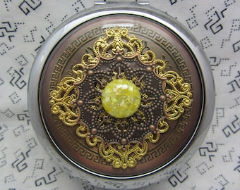 Compact Mirror Sunshine Comes With Protective Pouch