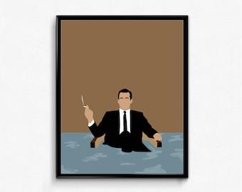 Don Draper Minimalist Poster- Mad Men TV Show Art