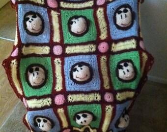 Cute Monkey Faces Blanket