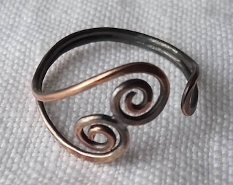 Olwyn Copper Ring  ferns Mackerel Sky  Spring 2018 collection recycled ecofriendly sustainable jewelry