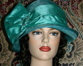 Kentucky Derby Hat, Del Mar Hat, Royal Wedding Hat, Flapper Hat, Edwardian Hat, Gatsby Hat, Downton Abbey Hat, Tea Party Hat - Josephine