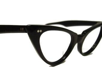 Vintage Winged AmericanOptical Cateye Eyeglasses Eyewear Frame 46-18