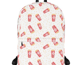 Fun Popcorn Backpack, Kids Backpack with Popcorn, Back to School Backpack, Pop Corn, School Accessories