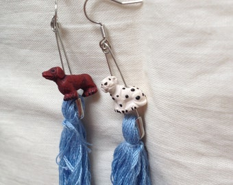 Handmade earrings with Doggies
