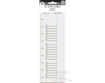Planner Stencil - Happy Planner - Line it up Check it off - Planner Accessories - MAMBI - Me & My Big Ideas - 343283