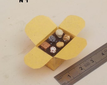 Bags of 1/12 scale miniature chocolates