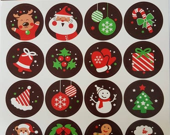 Christmas scrapbooking stikers