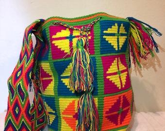 Colombian Mochila, Wayuu Bag, Shoulder Bag