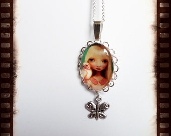 magical fairy necklace with a small Butterfly pendant