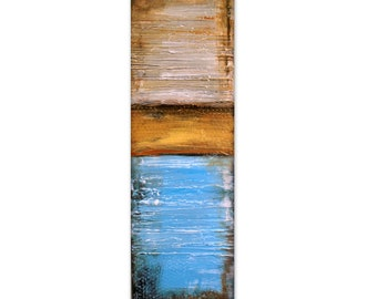 """Heavily Textured Abstract Earth Tone Painting, contemporary modern wall art, office art """" REFLECTIONS """" USA Shipping Free"""