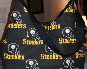 Pittsburg Steelers Cotton or Fleece Fabric Phoebe Bag/Team Fabric Purse
