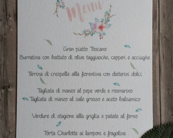 10 menu mod. Primavera