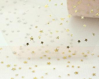 Tulle // Gold Star Tulle // PeachTulle // Peach Gold Star Tulle