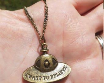 UFO  Martian necklace