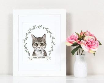Pet Portrait. Custom Cat Portrait. Custom Dog Portrait. Pet Dog Cat Illustration. Pet Drawing. Digital Pet Portrait. Pet Memorial. Dog Lover