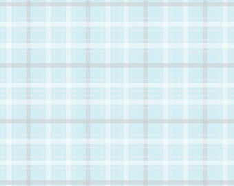 When Skies Are Grey Blue Plaid by Simple Simon and Company for Riley Blake, 1/2 yard