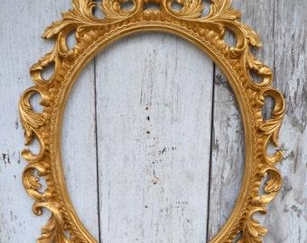 Oval Picture Frame Large Ornate Baroque Fancy Gold Portrait Wedding