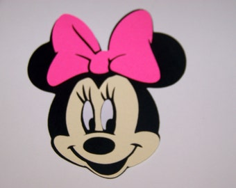 20 Minnie Mouse face 3 inch die cuts