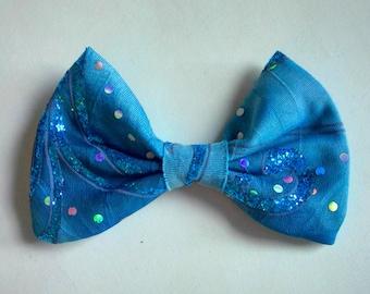 Aqua Swirl Bow