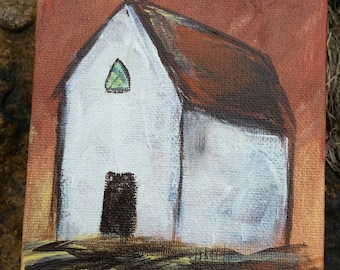 Little White Church 4 x 4