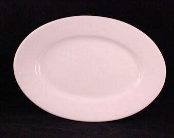 Antique/Vintage Oval White Ironstone Platter