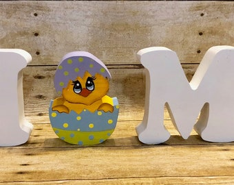"Easter Chic Interchangeable Character for Wood Home Letters - Interchangeable Sign - HOME Sign- Interchangeable ""O - Easter Holiday"
